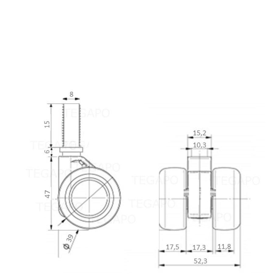 PATPHIGH wiel 39mm bout M8x15