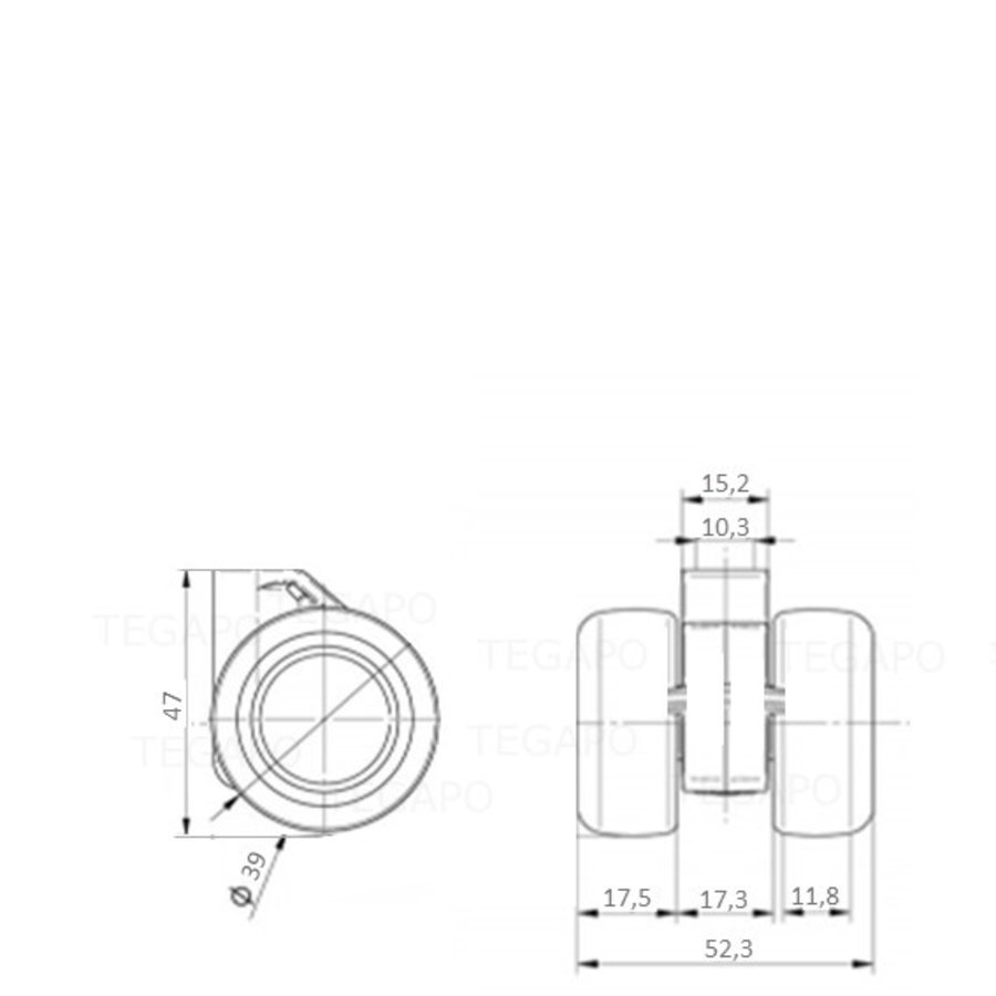 PATPHIGH wiel 39mm
