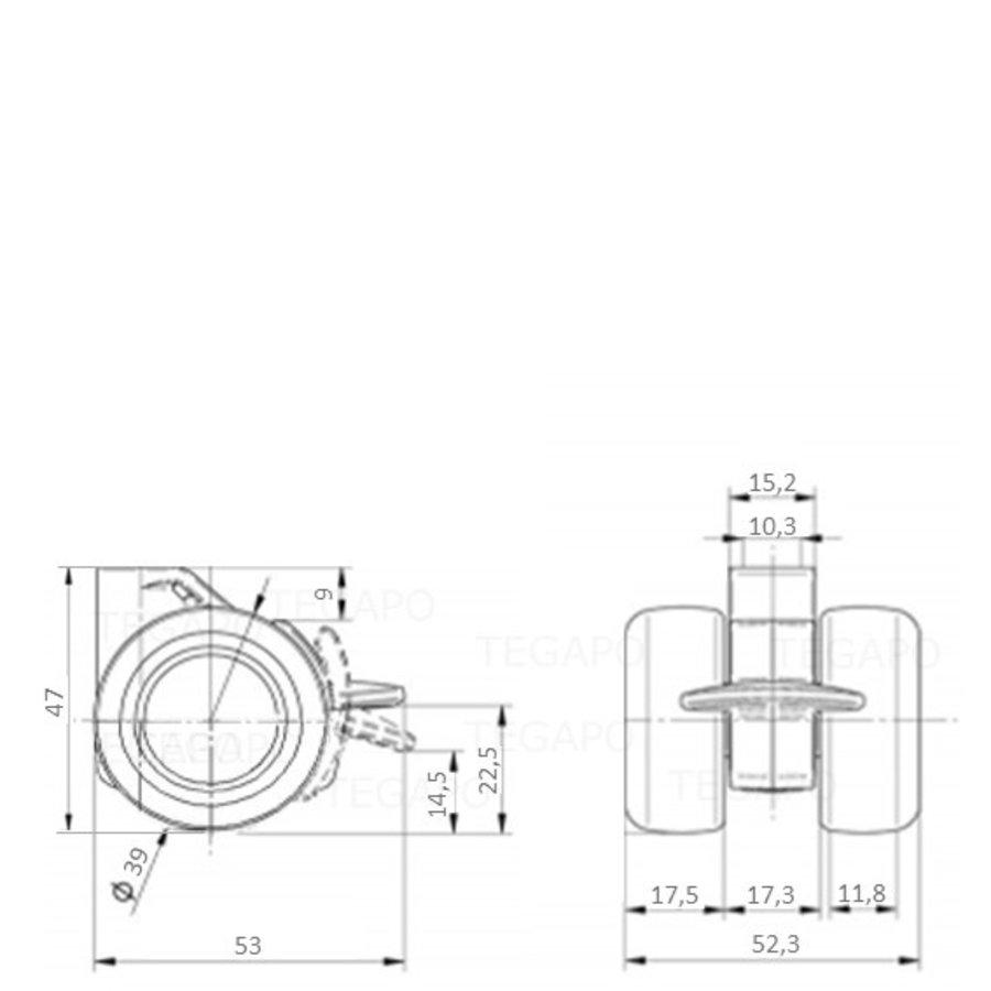 PATPHIGH wiel 39mm met rem