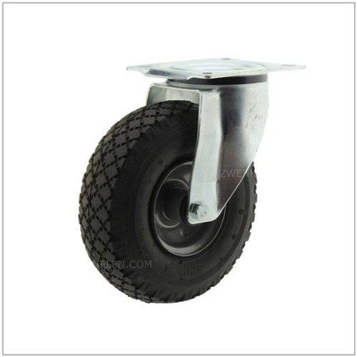 Bok- en zwenkwielen met luchtband