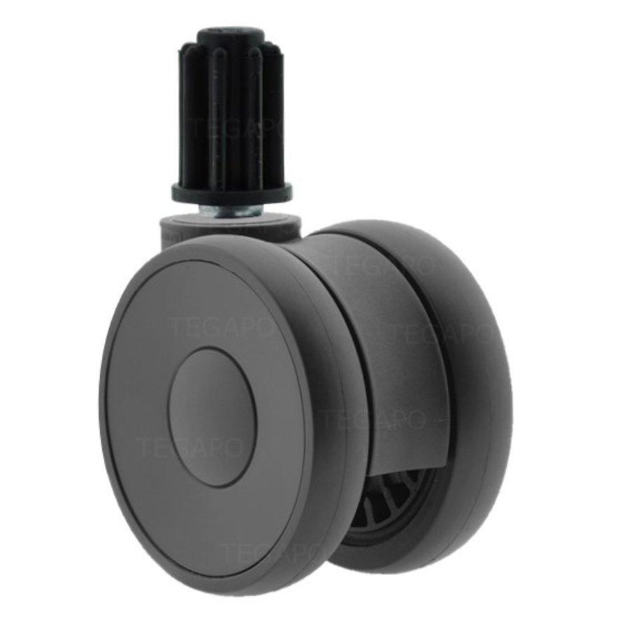 PAPU HIGH wiel 75mm plug rond 23mm