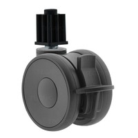 PAPU HIGH wiel 75mm plug vierkant 23mm met rem