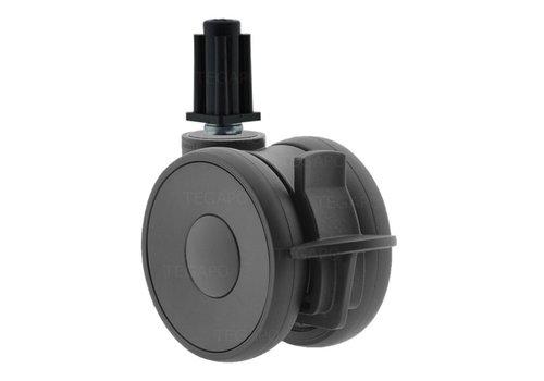 PAPU HIGH wiel 75mm plug vierkant 16mm met rem
