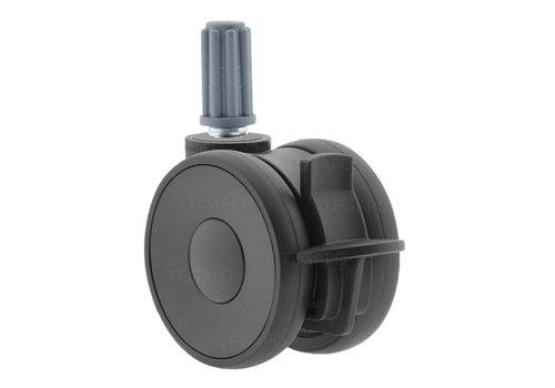 PAPU HIGH wiel 75mm plug rond 18mm met rem