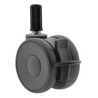 PAPU HIGH wiel 75mm plug rond 16mm met rem