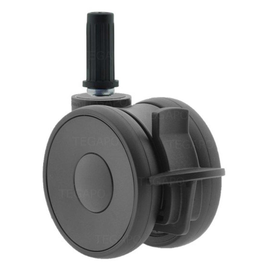 PAPU HIGH wiel 75mm plug rond 14mm met rem