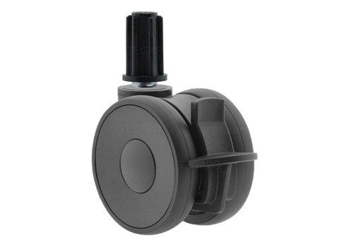 PAPU HIGH wiel 75mm plug rond 20mm met rem