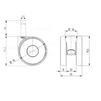 PAPU HIGH wiel 75mm stift 10mm (30)