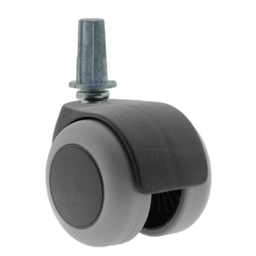 PPTP luxe wiel 50mm plug rond staal 13mm