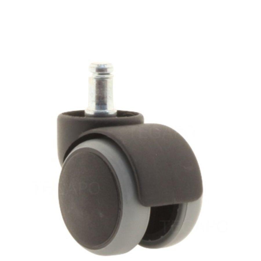 PPTP wiel 50mm krans 38 lastafhankelijk geremd stift 10mm