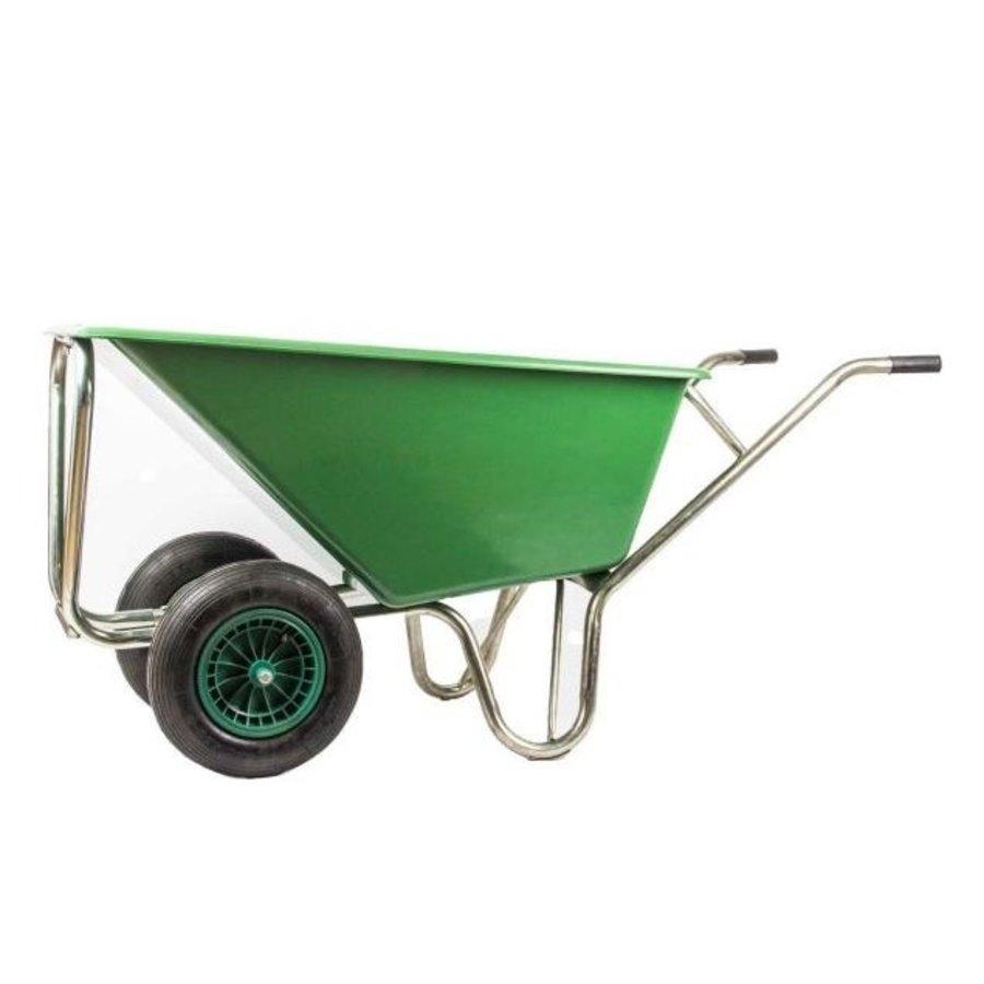 Volumekruiwagen dubbel wiel 160 liter