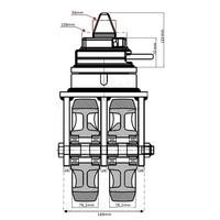Set van 4 stuks zeecontainer wiel 18000 kg met ISO lock