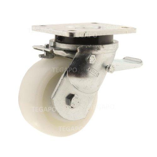 Zwenkwiel nylon Xtreme 125 6NO plaat met rem
