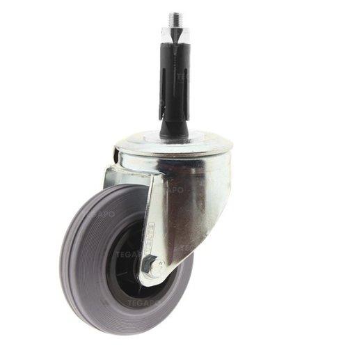 Zwenkwiel rubber 100 indoor ronde buis 24-27mm