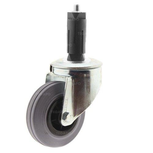 Zwenkwiel rubber 100 indoor ronde buis 31-35mm