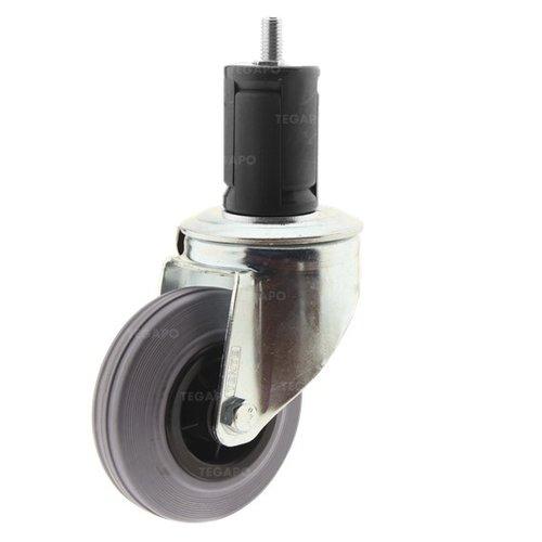 Zwenkwiel rubber 100 indoor ronde buis 36-39mm