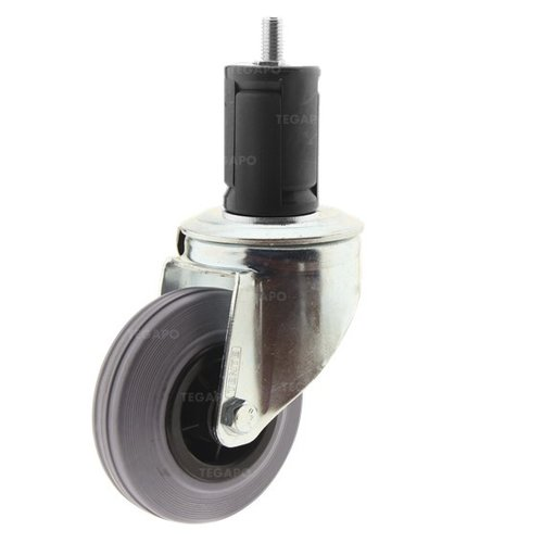 Zwenkwiel rubber 100 indoor ronde buis 40-45mm