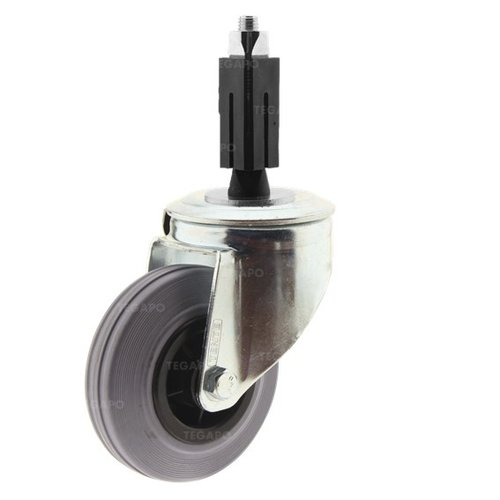 Zwenkwiel rubber 100 indoor vierkante koker 21,5-24mm