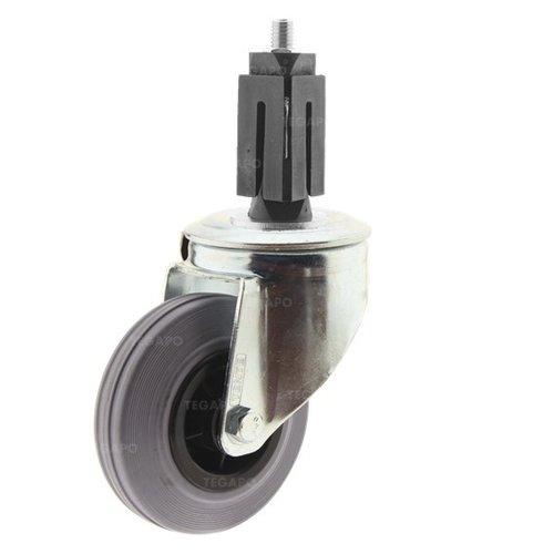 Zwenkwiel rubber 100 indoor vierkante koker 27-30mm