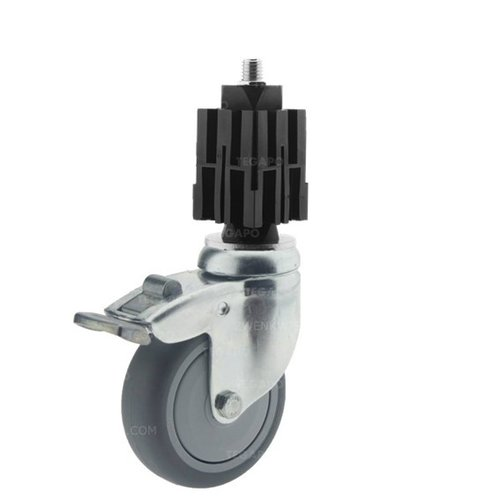 Zwenkwiel 75 verzinkt 2TPKO vierkante koker 36-40mm met rem