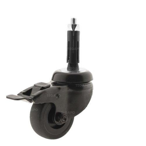 Zwenkwiel 50 black line 2TP ronde buis 21,5-24mm met rem
