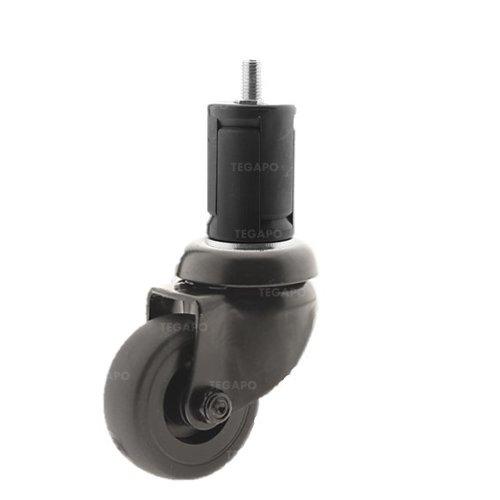 Zwenkwiel 50 black line 2TP ronde buis 40-45mm