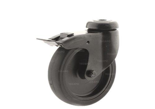 Zwenkwiel 100 black line 2TP boutgat met rem