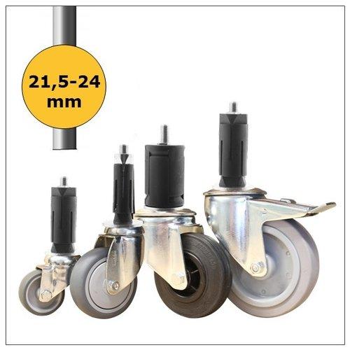 Wielen voor ronde buis 21,5-24mm