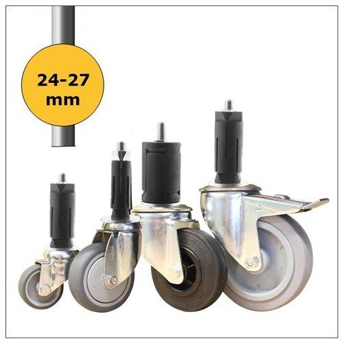 Wielen voor ronde buis 24-27mm