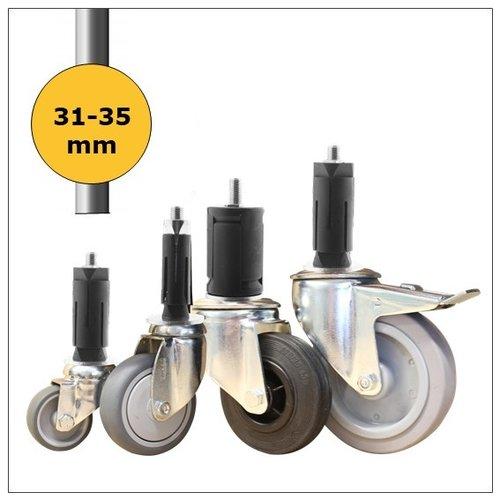 Wielen voor ronde buis 31-35mm