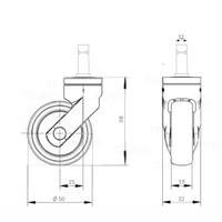 Alu Polish wiel 50mm stift 11mm