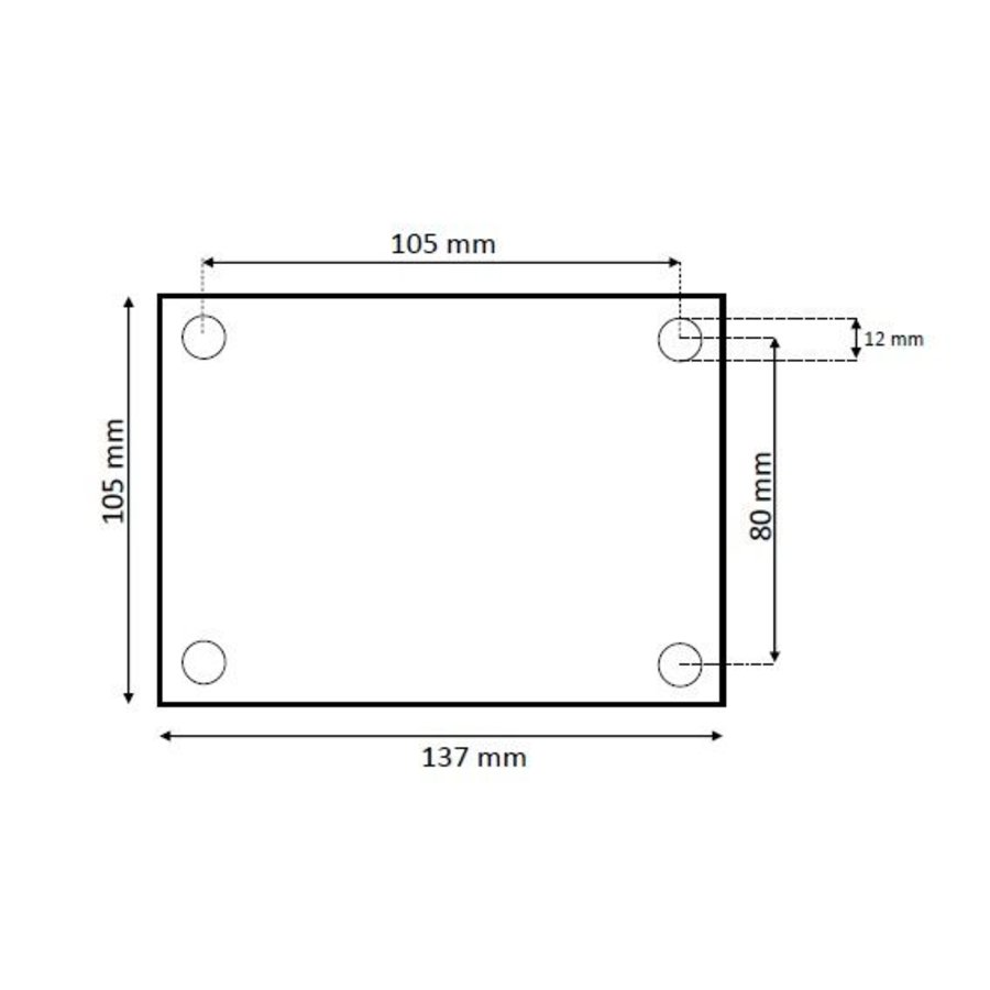 Schetsplaat RVS 105x137x5mm
