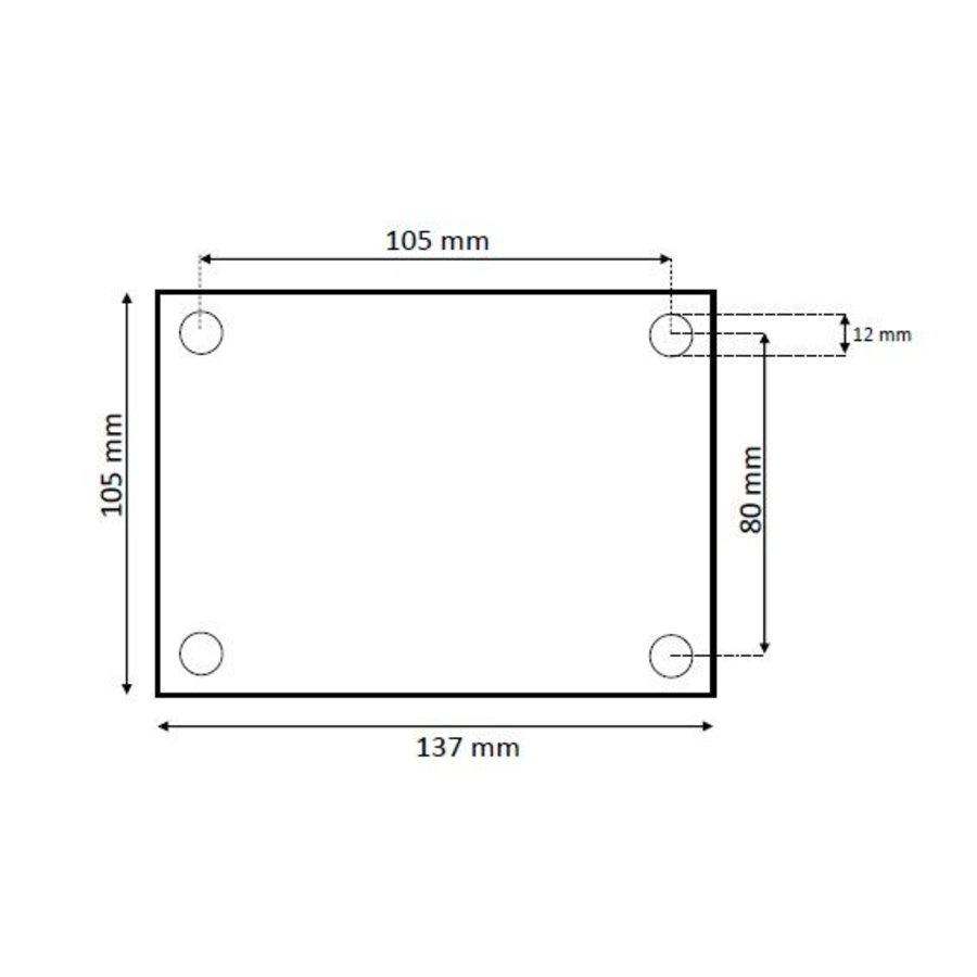 Schetsplaat RVS 85x105x5mm