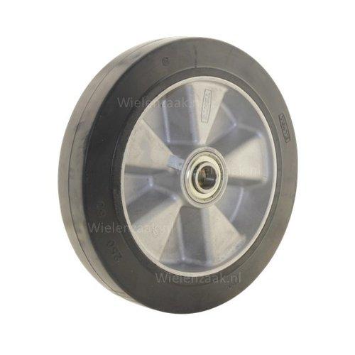 Wiel rubber 250 5SO plaat