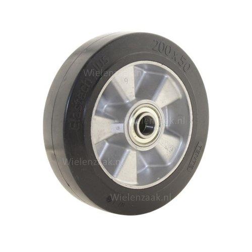 Wiel rubber 200 5SO plaat