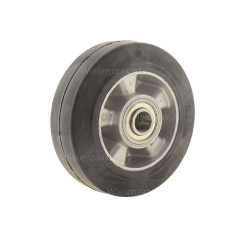 Wiel rubber 160 5SO plaat