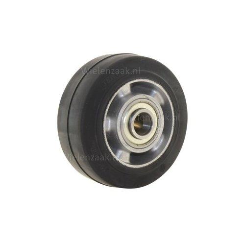 Wiel rubber 125 5SO plaat