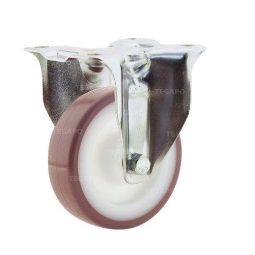 Bokwiel nylon 3NOP 100mm plaatbevestiging