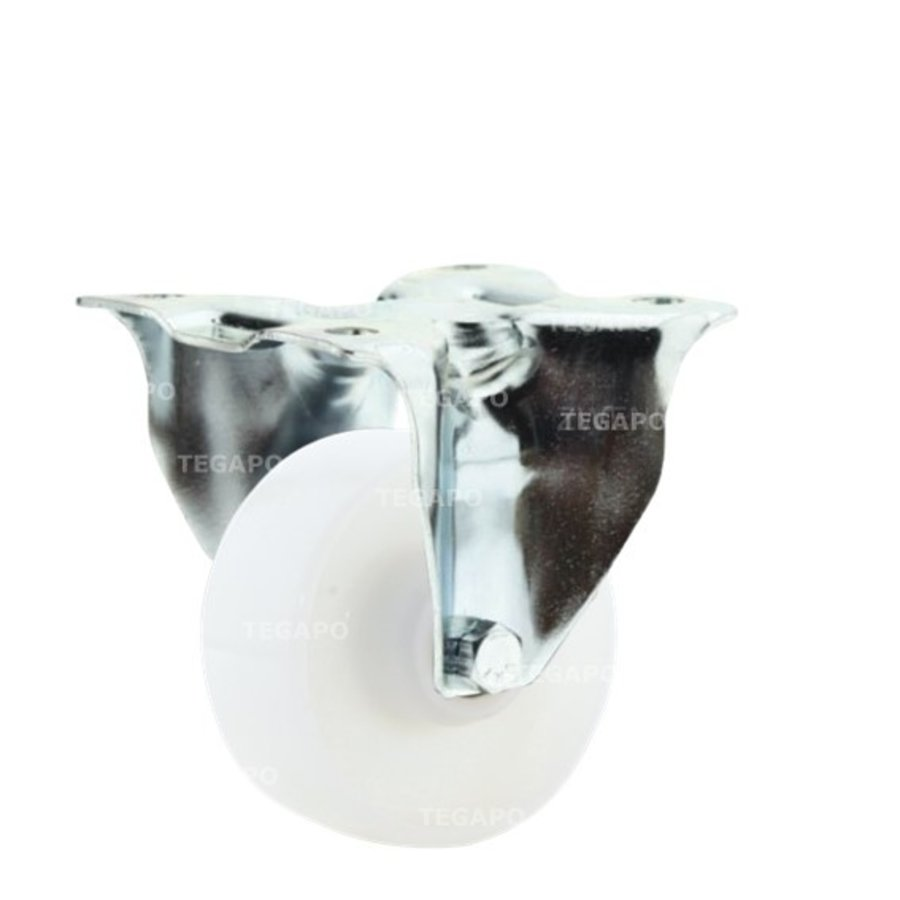 Bokwiel nylon 3NO 80mm plaat