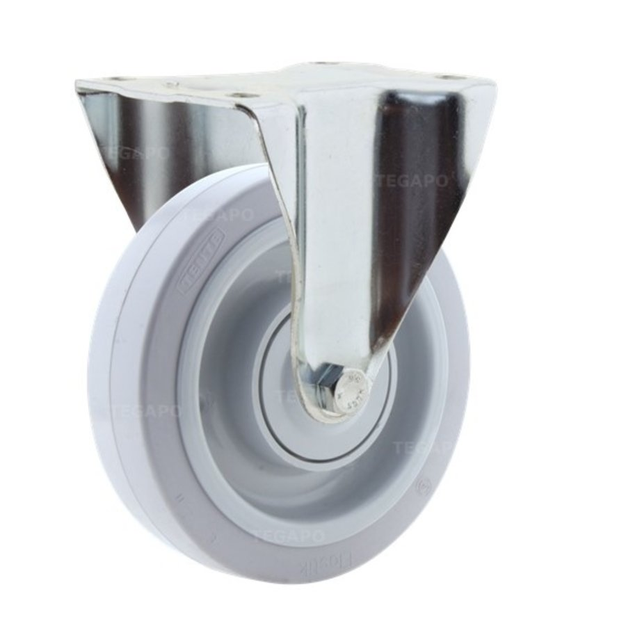 Bokwiel elastisch rubber 160 3KO plaat
