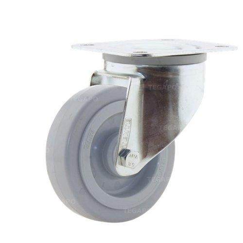 Zwenkwiel elastisch rubber 100 3KO plaat