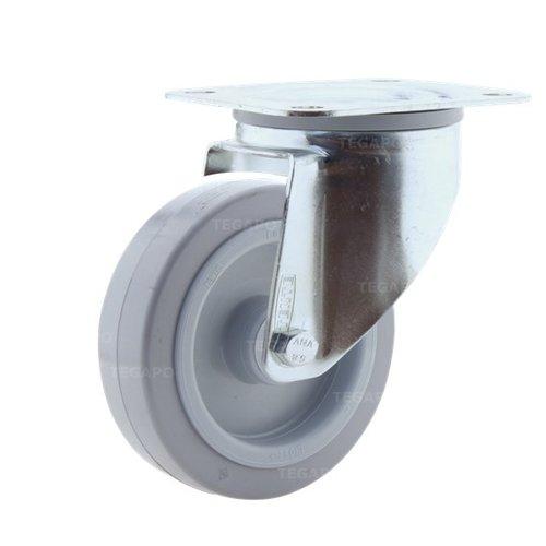Zwenkwiel elastisch rubber 125 3KO plaat