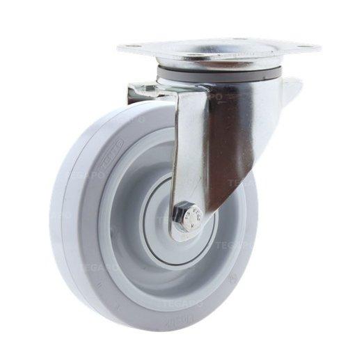 Zwenkwiel elastisch rubber 160 3KO plaat