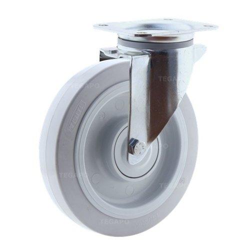 Zwenkwiel elastisch rubber 200 3KO plaat