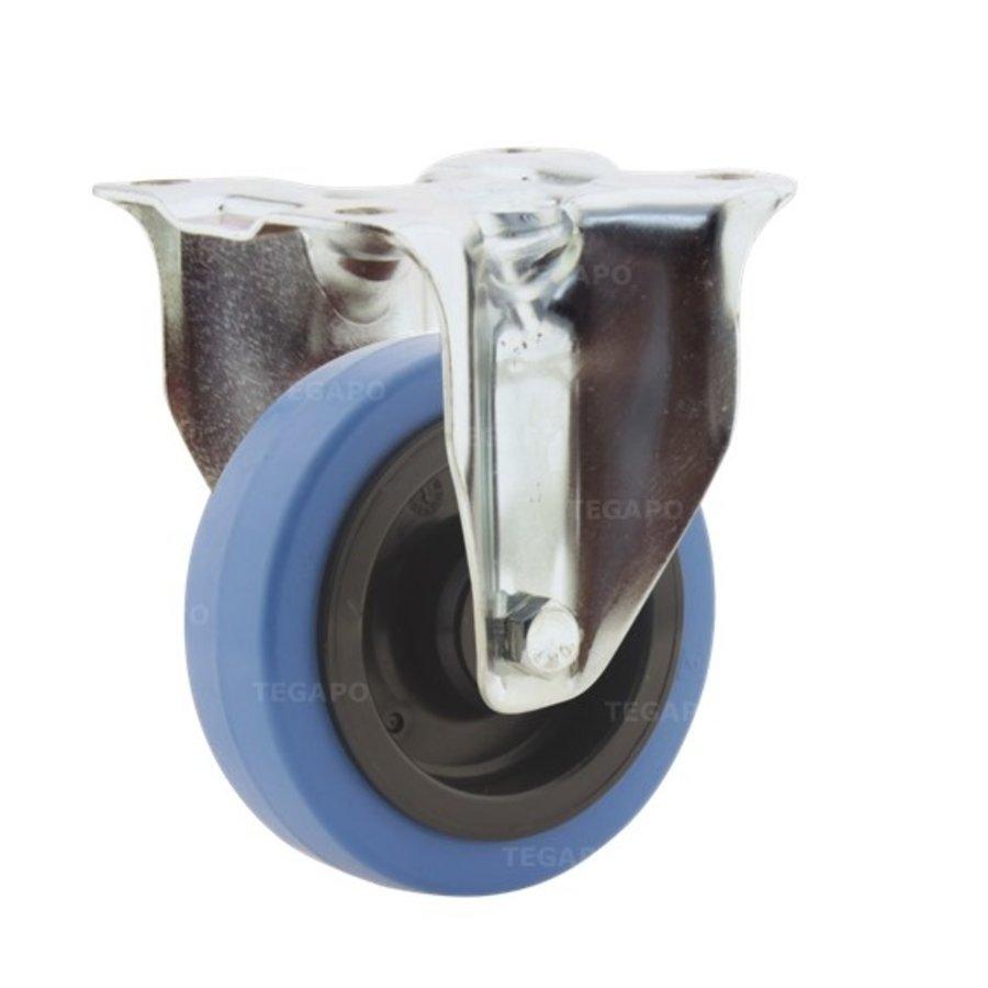 Bokwiel elastisch rubber blauw 100 3KO plaat