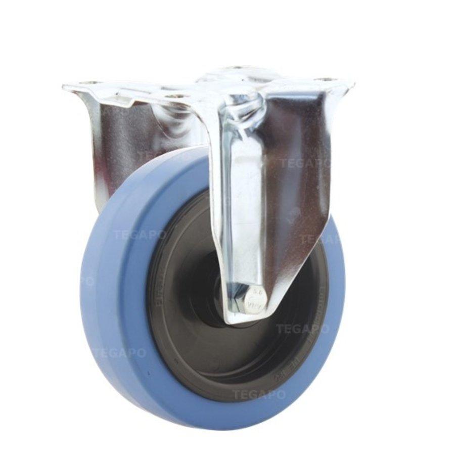 Bokwiel elastisch rubber blauw 125 3KO plaat