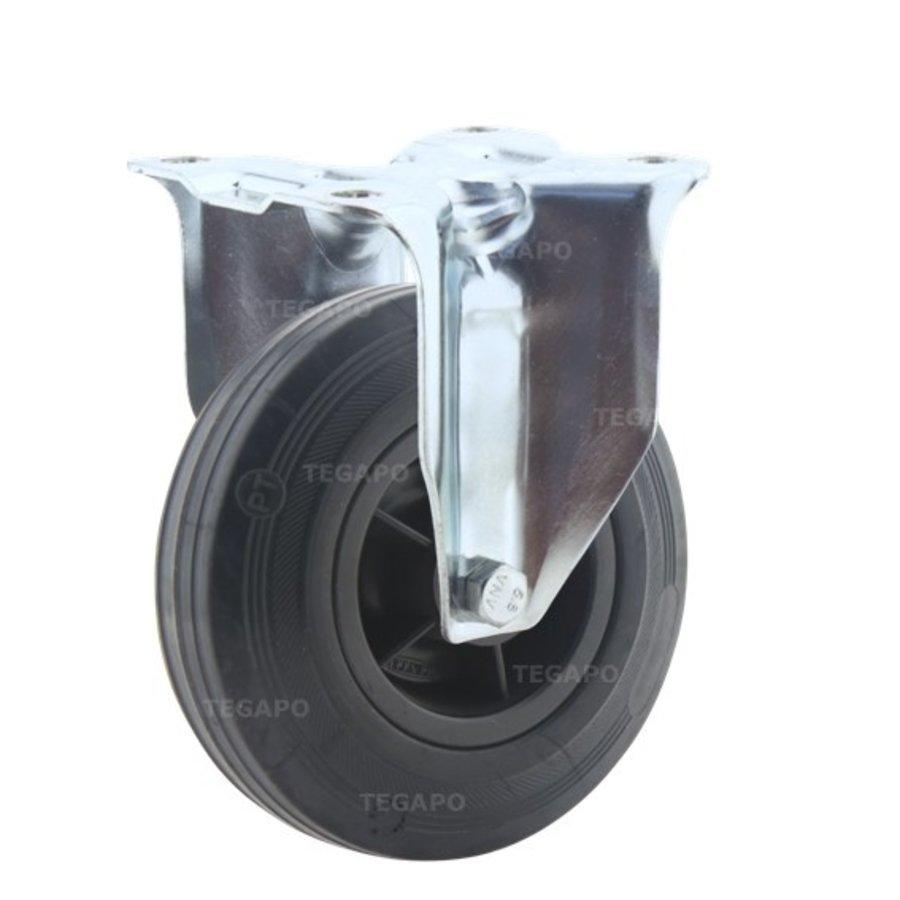 Bokwiel rubber 125 3KO plaat