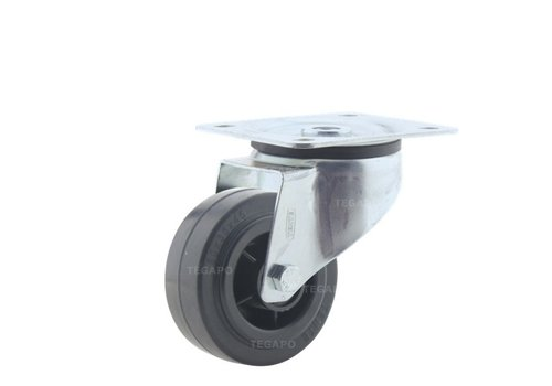Zwenkwiel rubber 80 3KO plaat