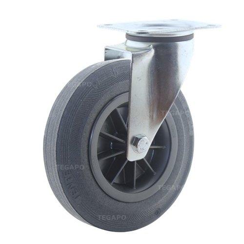 Zwenkwiel rubber 200 3KO plaat