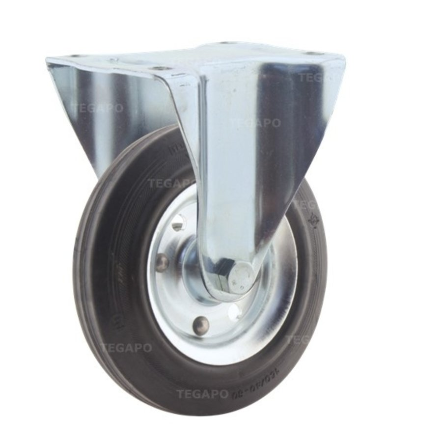 Bokwiel rubber 160 3SO plaat
